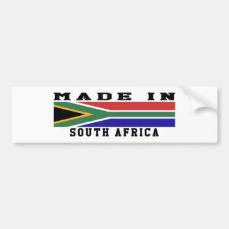 South Africa Made In Designs Bumper Sticker