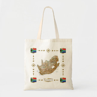 South Africa Map + Flags Bag