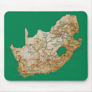 South Africa Map Mousepad
