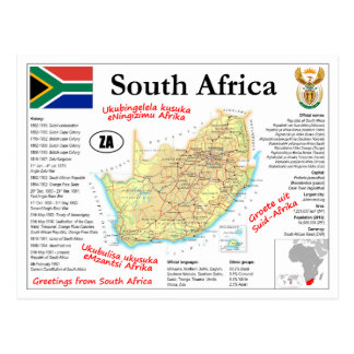 South Africa map Postcard