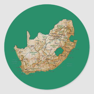 South Africa Map Sticker