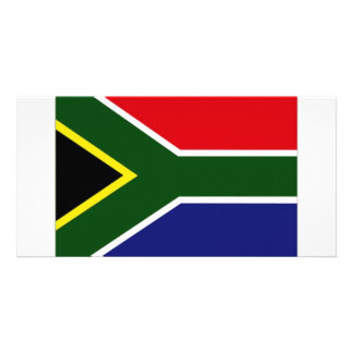 South Africa National Flag Photo Card Template