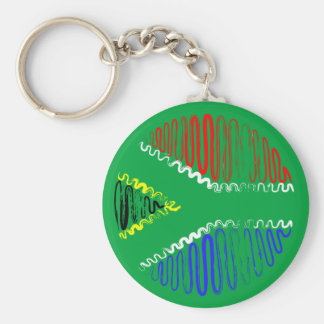 South Africa on Green Keychain