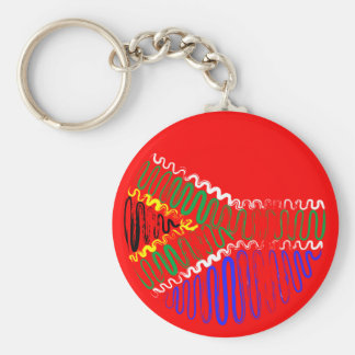South Africa on Red Keychain