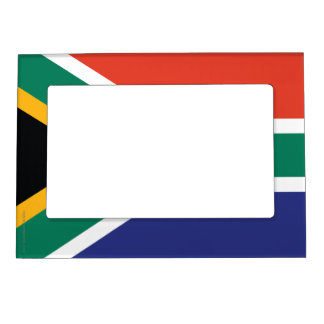 South Africa Plain Flag Magnetic Picture Frame