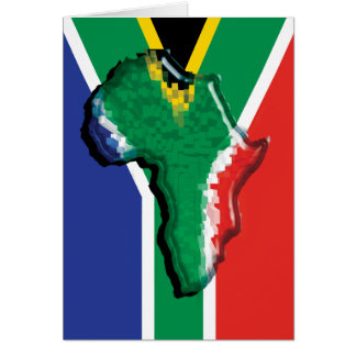 South Africa RSA African flag Card