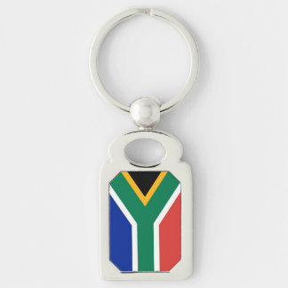 South Africa Silver-Colored Rectangle Key Ring