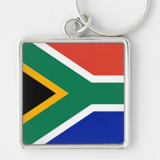 SOUTH AFRICA Silver-Colored SQUARE KEY RING