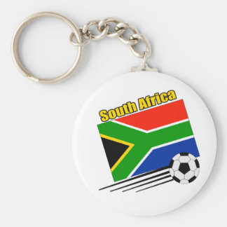 South Africa Soccer Team Basic Round Button Key Ring