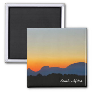 South Africa Sunset Mountains Magnet