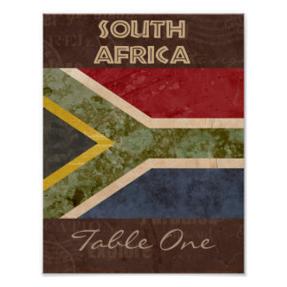 South Africa Table Number Poster