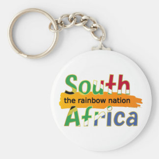 South Africa: the rainbow nation Basic Round Button Key Ring