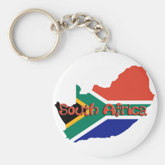 South Africa theme Basic Round Button Key Ring