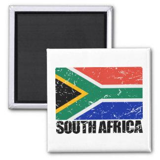 South Africa Vintage Flag Square Magnet