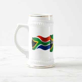 South Africa Waving Flag Beer Stein