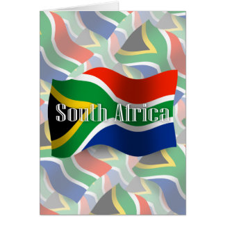 South Africa Waving Flag Card