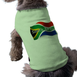 South Africa Waving Flag Doggie Tee Shirt