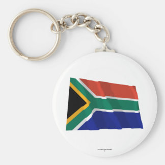 South Africa Waving Flag Key Chains
