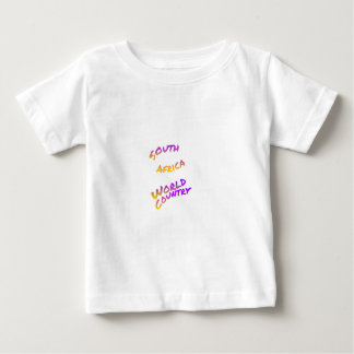South Africa world country, colorful text art Baby T-Shirt