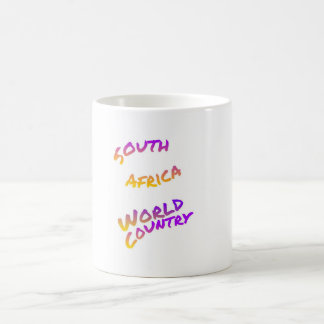 South Africa world country, colorful text art Coffee Mug