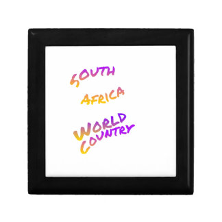 South Africa world country, colorful text art Gift Box