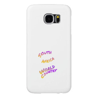 South Africa world country, colorful text art Samsung Galaxy S6 Cases
