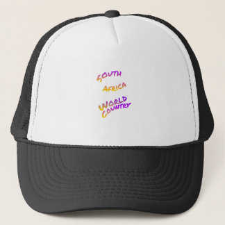 South Africa world country, colorful text art Trucker Hat