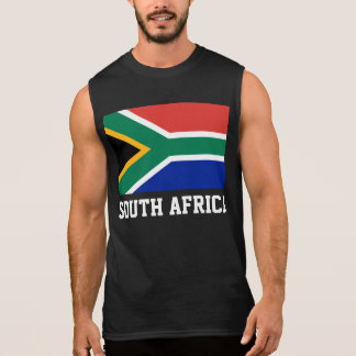South Africa World Flag Sleeveless Tees