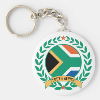 South Africa Wreath Basic Round Button Key Ring