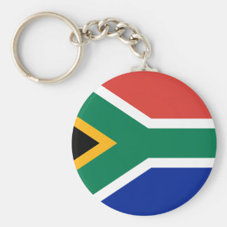 South Africa ZA Basic Round Button Key Ring