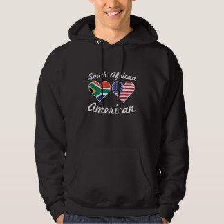 South African American Flag Hearts Hoodie