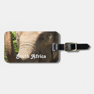 South African Elephant Luggage Tag