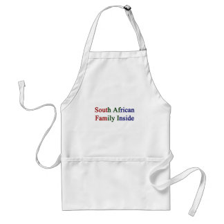 South African Family Inside Adult Apron