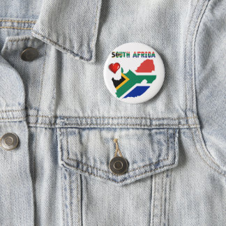 South African flag 6 Cm Round Badge