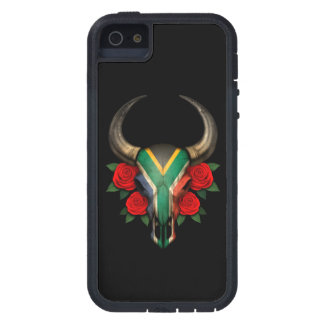 South African Flag Bull Skull with Red Roses iPhone 5 Case