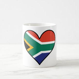 South African Flag Heart Coffee Mug
