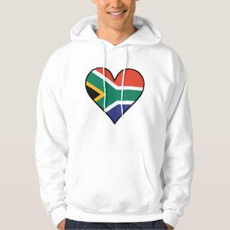 South African Flag Heart Hoodie