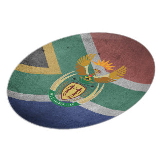 South African flag Plate