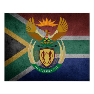 South African flag Poster