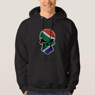 South African Flag Skull Hoodie