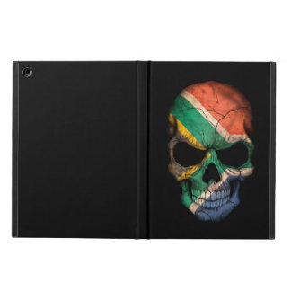 South African Flag Skull on Black iPad Air Cover