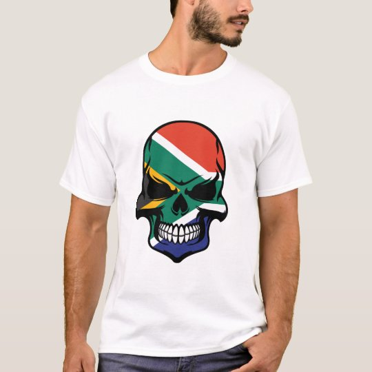 South African Flag Skull T-Shirt