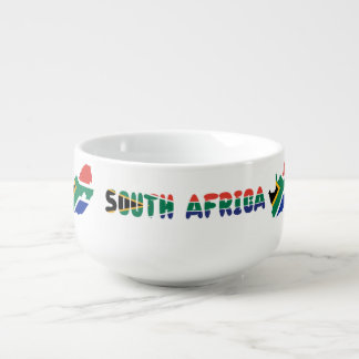 South African flag Soup Mug