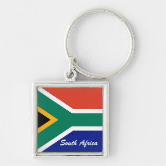 South African flag square flag Key Ring