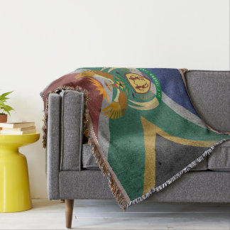 South African flag Throw Blanket