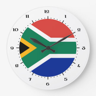 South African flag Wall Clocks