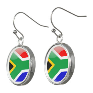 South African glossy flag Earrings