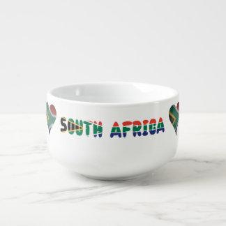South African heart Soup Mug