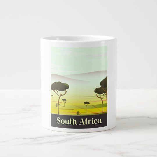 South African landscape evening travel poster Large Coffee Mug