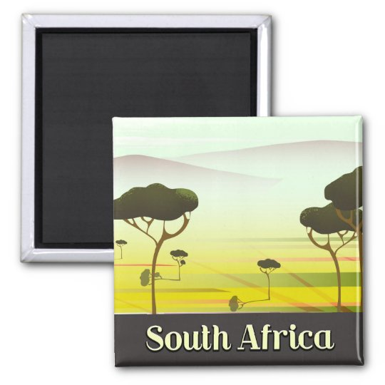 South African landscape evening travel poster Magnet